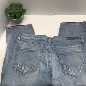 Rock & Republic Cropped Capris size 14 rhinestones